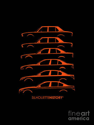 Bavarian Five Silhouettehistory Poster by Gabor Vida