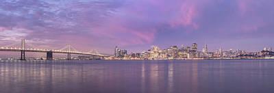 Bay Bridge And San Fransico Sunrise Poster by John McGraw