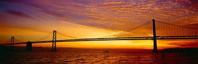 Bay Bridge At Sunrise, San Francisco Poster by Panoramic Images