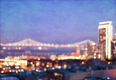 Bay Bridge Glow Poster by Melanie Alexandra Price