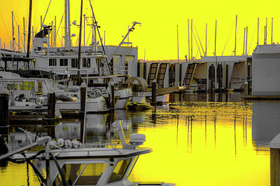 Bay In Yellow Poster