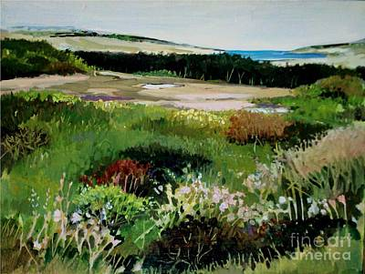 Poster featuring the painting Bay Meadow by Diane Ursin