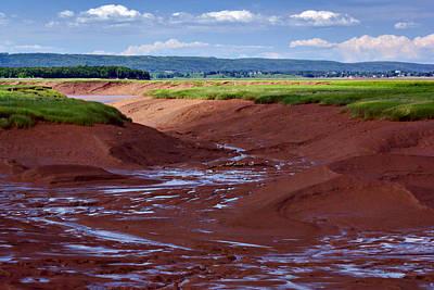 Bay Of Fundy - Nova Scotia - Low Tide Poster by Nikolyn McDonald