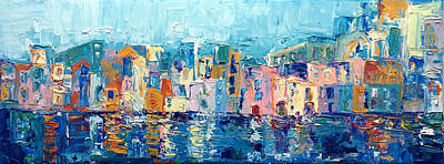 Bay Of Naples Poster by Adriana Dziuba