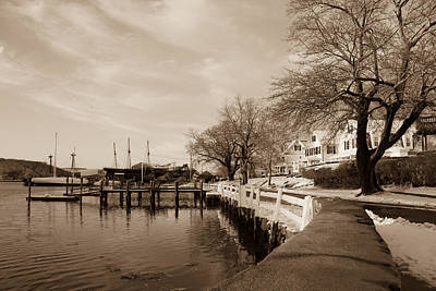 Bay Street In Winter - Mystic Ct Poster