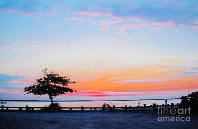 Poster featuring the photograph Bay Sunset by Susan Carella