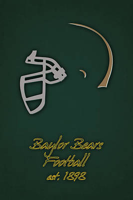 Baylor Bears Helmet 2 Poster by Joe Hamilton