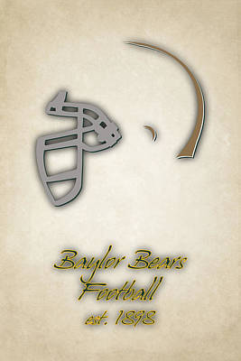 Baylor Bears Helmet Poster by Joe Hamilton