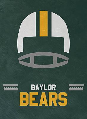 Baylor Bears Vintage Football Art Poster by Joe Hamilton