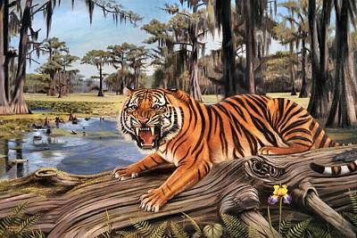 Bayou Mike Of Louisiana Poster by Mike Roberts