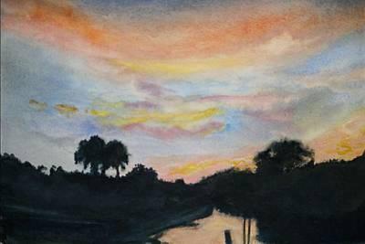 Bayou Sunset Poster
