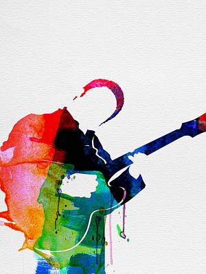 B.b. King Watercolor Poster by Naxart Studio