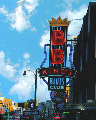 Poster featuring the photograph Bb Kings by Lizi Beard-Ward