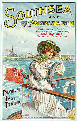 Southsea And Portsmouth Poster by John Hutton Walker