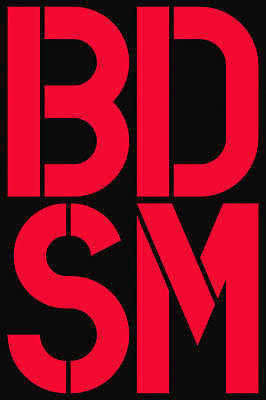 Bdsm Black And Red Poster by Three Dots