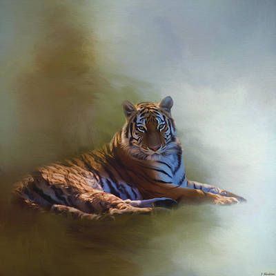 Be Calm In Your Heart - Tiger Art Poster