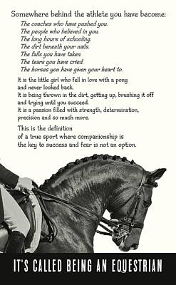 Be Equestrian Quote Poster