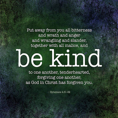 Be Kind Poster by Andy Schmalen