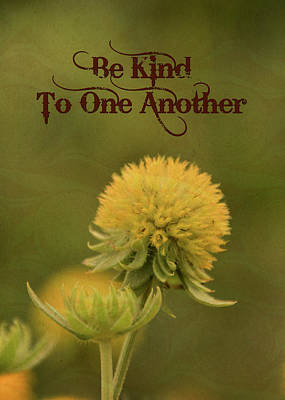 Be Kind To One Another Poster by Trish Tritz
