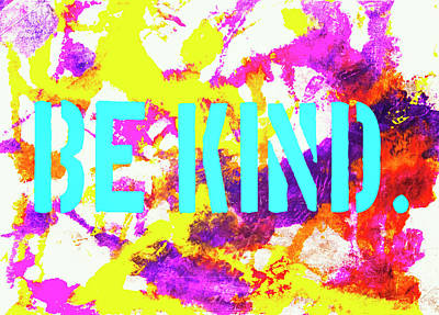 Be Kind Poster by Toni Hopper