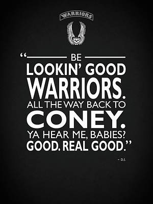 Be Lookin Good Warriors Poster by Mark Rogan