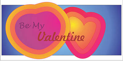 Be My Valentine Card Poster