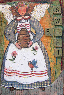 Poster featuring the painting Be Sweet Altered Art Mixed Media by Barbara Giordano