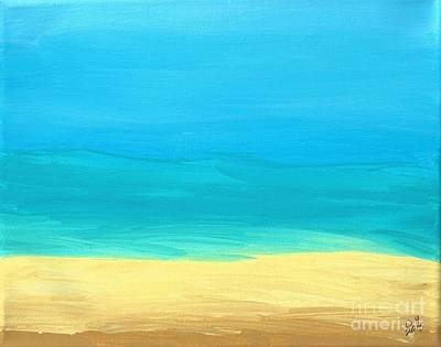 Beach Abstract Poster by D Hackett