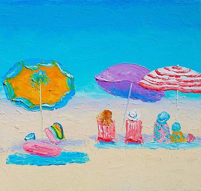 Beach Art - A Day At The Seaside Poster by Jan Matson