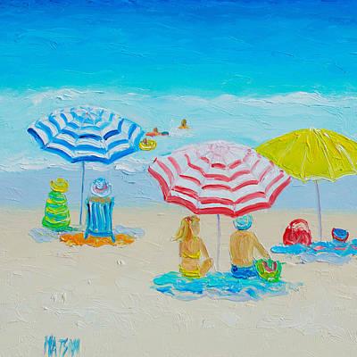 Beach Art - Balmy Summers Day Poster by Jan Matson