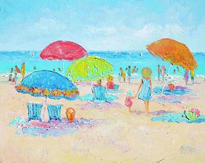 Beach Art - Relax Poster by Jan Matson