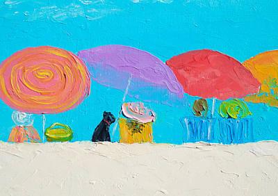 Beach Art - Soaking Up The Sun Poster by Jan Matson