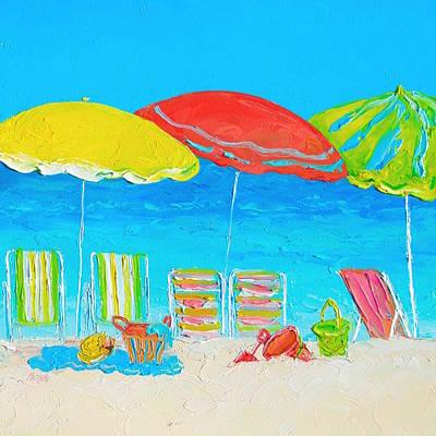 Beach Art - Summer Days Are Here Again Poster