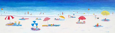 Beach Art - Very Long Hot Summer Poster by Jan Matson