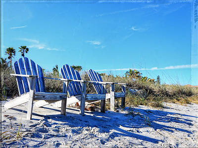 Beach Art - Waiting For Friends - Sharon Cummings Poster