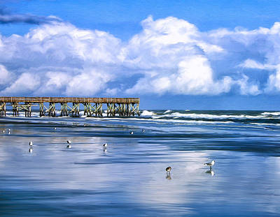 Beach At Isle Of Palms Poster by Dominic Piperata