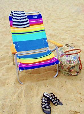 Beach Attire Poster by Deborah  Crew-Johnson