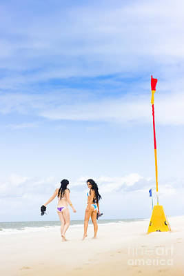 Beach Babes Poster by Jorgo Photography - Wall Art Gallery