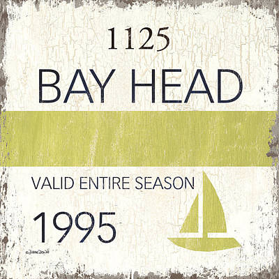 Beach Badge Bay Head Poster