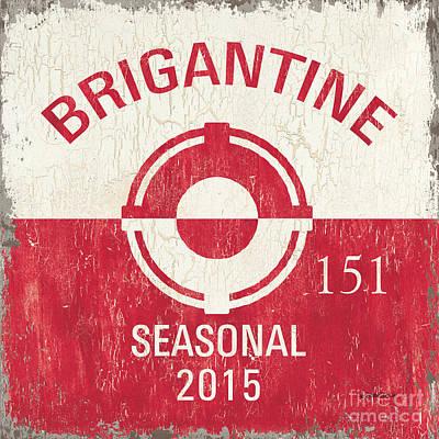 Beach Badge Brigantine Poster by Debbie DeWitt
