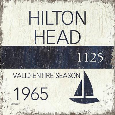 Beach Badge Hilton Head Poster