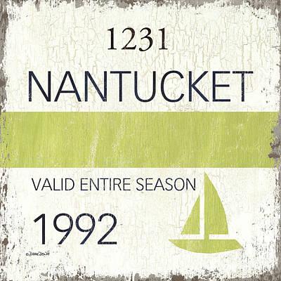 Beach Badge Nantucket Poster