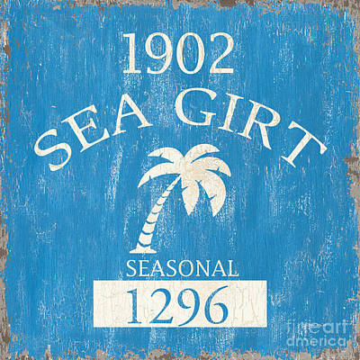 Beach Badge Sea Girt Poster by Debbie DeWitt