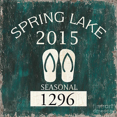 Beach Badge Spring Lake Poster by Debbie DeWitt