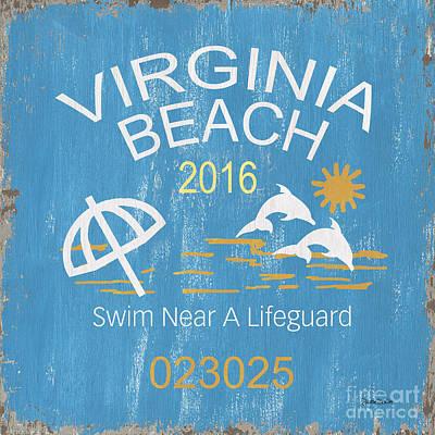 Beach Badge Virginia Beach Poster