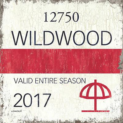 Beach Badge Wildwood 2 Poster