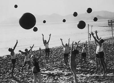 Beach Balls On The Beach Poster