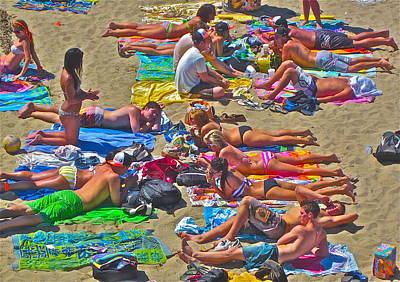 Beach Blanket Bingo Poster by Gwyn Newcombe