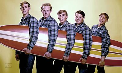 Beach Boys Poster by Garland Johnson