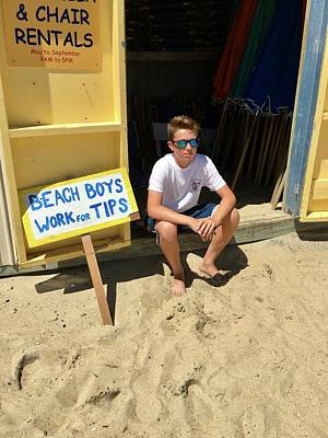 Beach Boys Work For Tips Poster